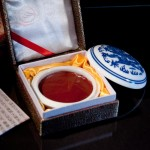 Paste seal, carmine red, old seals
