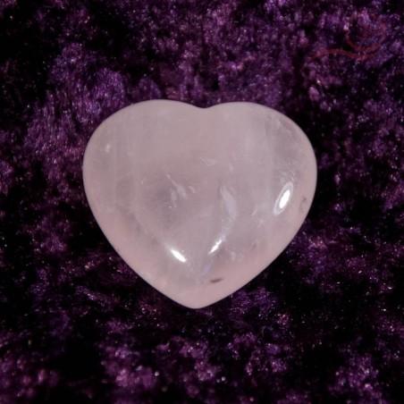 Coeur en quartz rose 3cm