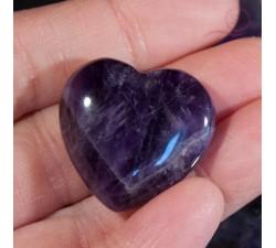 Coeur en améthyste 3 cm