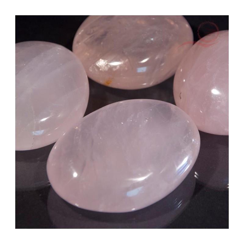 galets en quartz rose