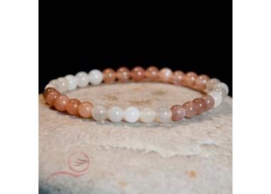 Bracelet, pierres de lune