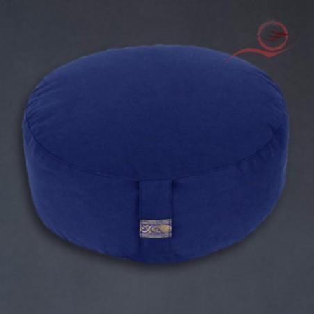 Coussin de méditation, bleu indigo