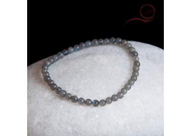Bracelet, en perles de labradorite, 4mm