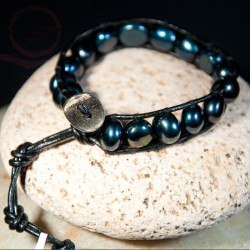 Bracelet-leather-and-stones