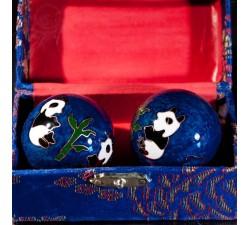 Boules Qi Gong bleu, 3.5 cm