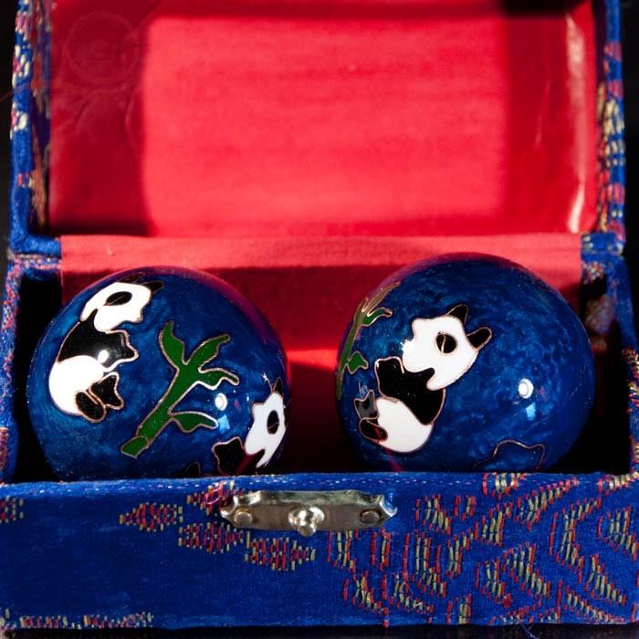Boules de santé Qi Gong, bleu