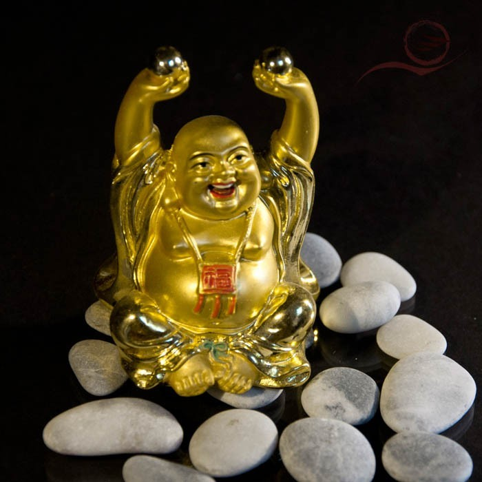 Mini bouddha rieur et boules de santé 7cm