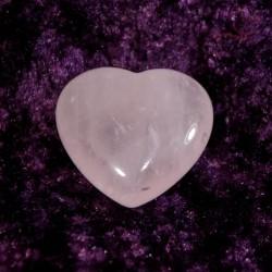 Coeur en quartz rose 4cm