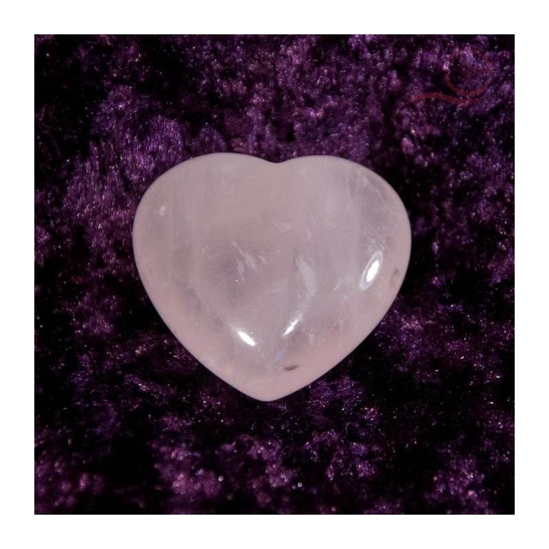 Pink quartz heart 3 cm
