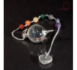 Pendule en cristal de roche