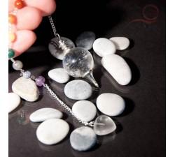 Pendule en cristal de roche 7 chackras