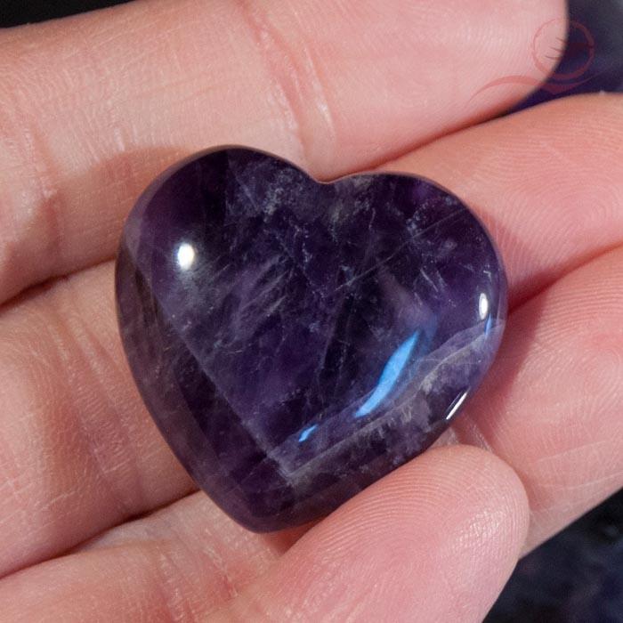 heart in amethyst