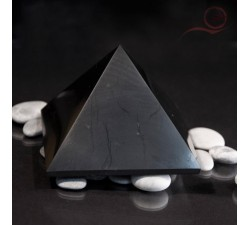 Pyramid in shungite: