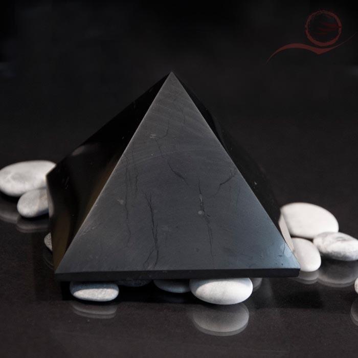 Pyramid in shungite: