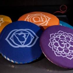 Round holder for Tibetan cotton bowls.