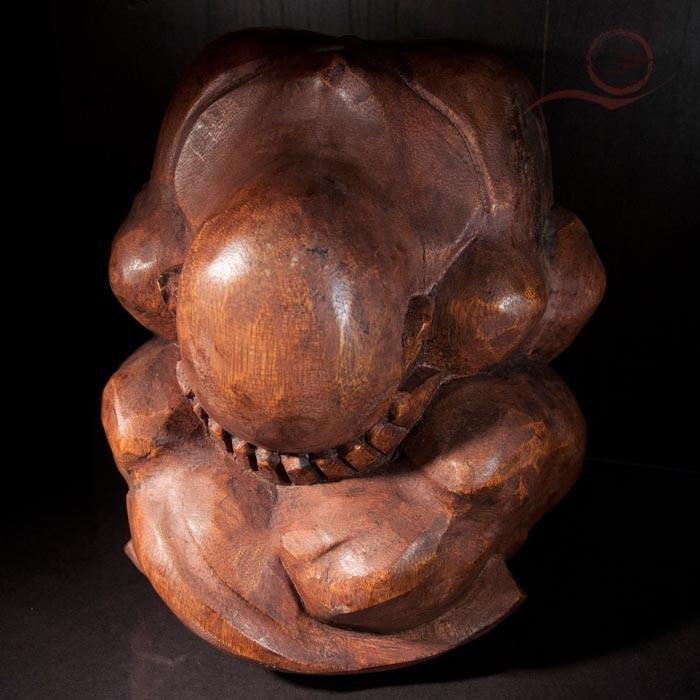 Yogi en bois de suar, 15 cm