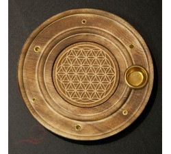 Incense burner flower of life