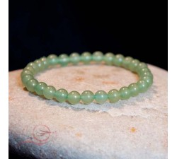 Bracelet, in aventurine pearls