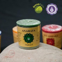 bougie parfumée aux couleurs et odeurs des 7 chakra