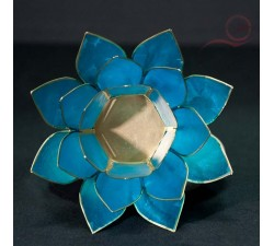 lotus candle holder blue