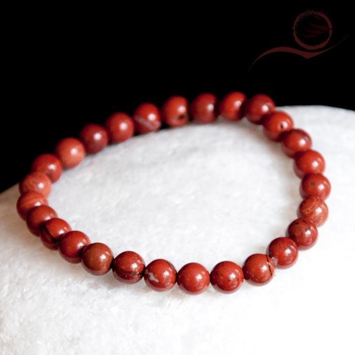 Bracelets, perles jaspe rouge