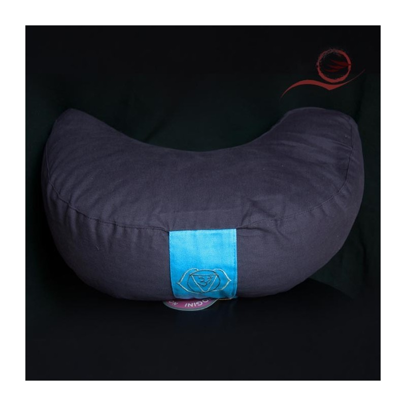 Meditation cushion half moonshaped