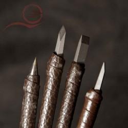Trousse de ciseaux pour graver des sceaux