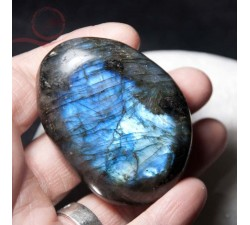 Very beautiful pebble in labradorite