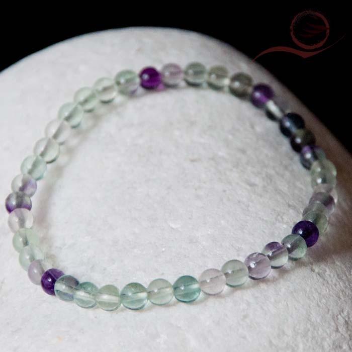Bracelet en fluorite 4mm