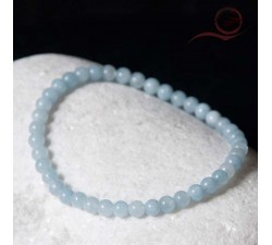 Aquamarine bracelet 4mm
