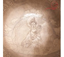 Bol tibétain gravé Tara blanche, lyon