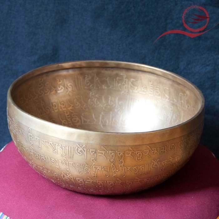 Beautiful singing bowl engraved by hand