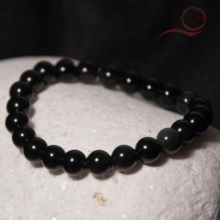 Bracelet en obsidienne oeil celeste 8mm