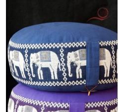 coussin zafu de méditation, éléphant