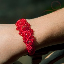 Bracelet with agate beads