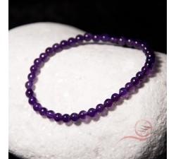 Bracelets en améthyste, perles de 4mm, lyon
