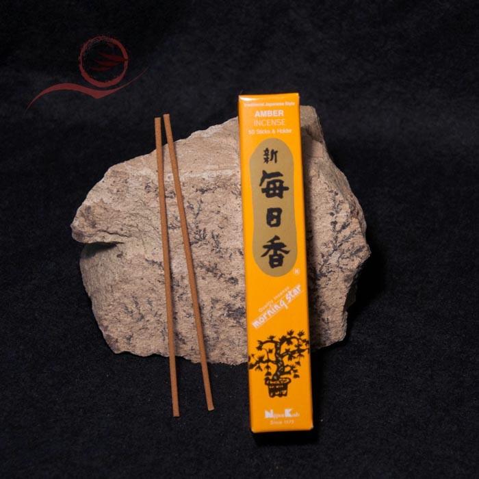 Morning Star incense, amber