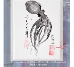 Gyotaku, poulpe 3
