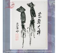 Gyotaku, calamar, lyon
