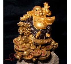 Laughing Buddha on Dragon Tortoise