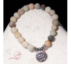 bracelet en amazonite et ohm