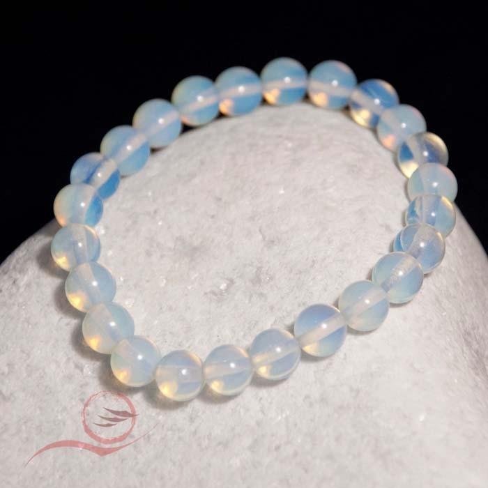 Bracelet, en perles d'opaline