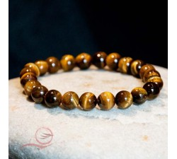 Bracelet, en perles oeil de tigre