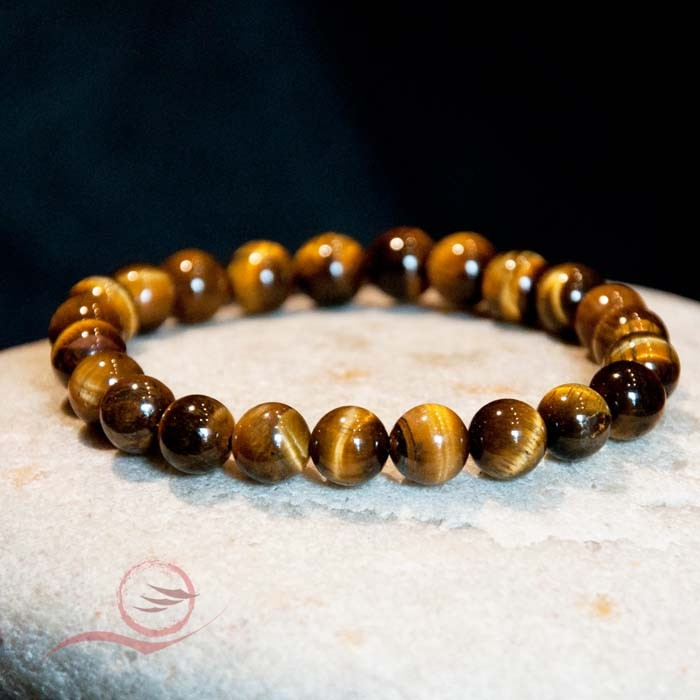 Bracelet, tiger eye beads