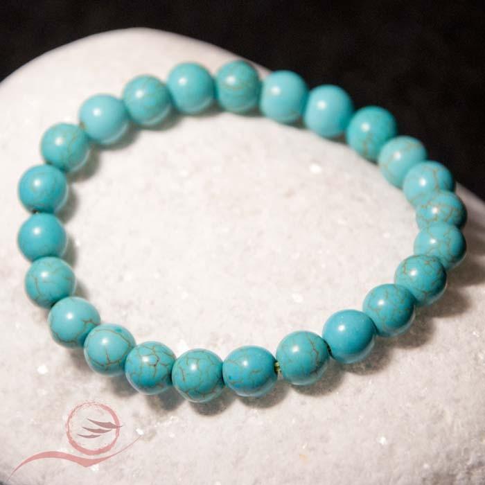 Bracelet, perles de  turquoise