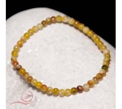 bracelet en serpentine, perles en 4 mm, lyon