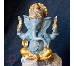 Ganesh painted brass