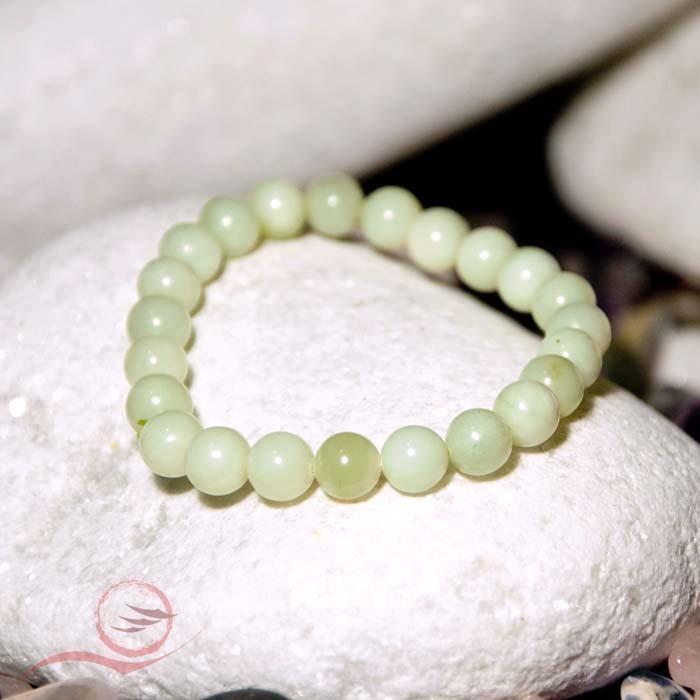 Bracelet, en perles de jade