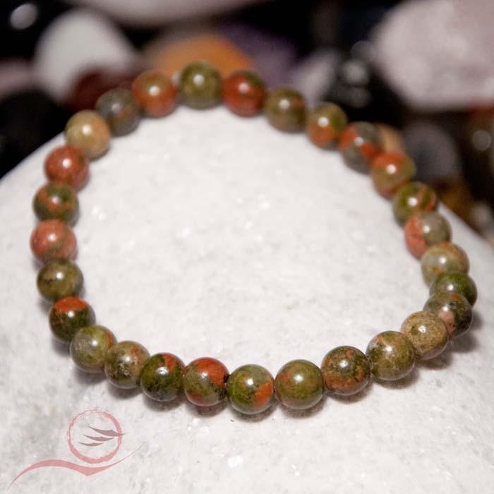 Bracelet pierre unakite