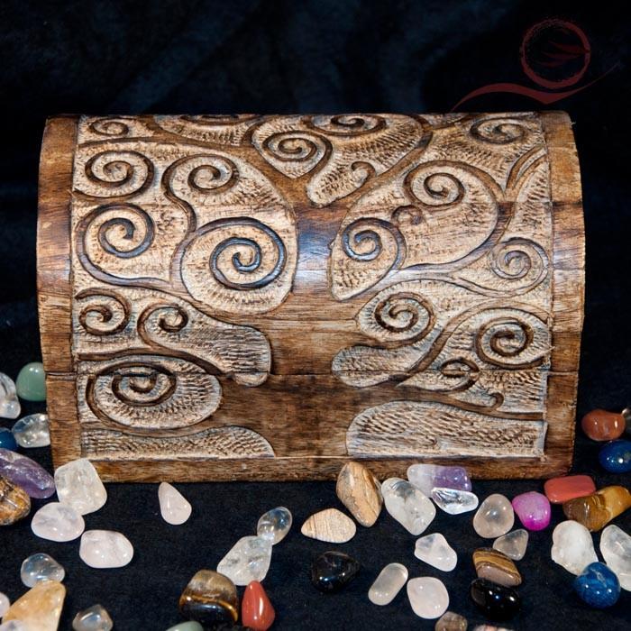 Wooden box, tree of life